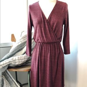 Everly dress burgundy or wine color